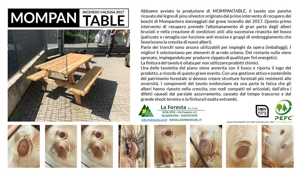 Tavolo con panche: MOMPANTABLE